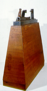 "Guy du Toit ""060486 SW"", 1986 - steel on wood - 108x110x039 cm (PELMAMA)"